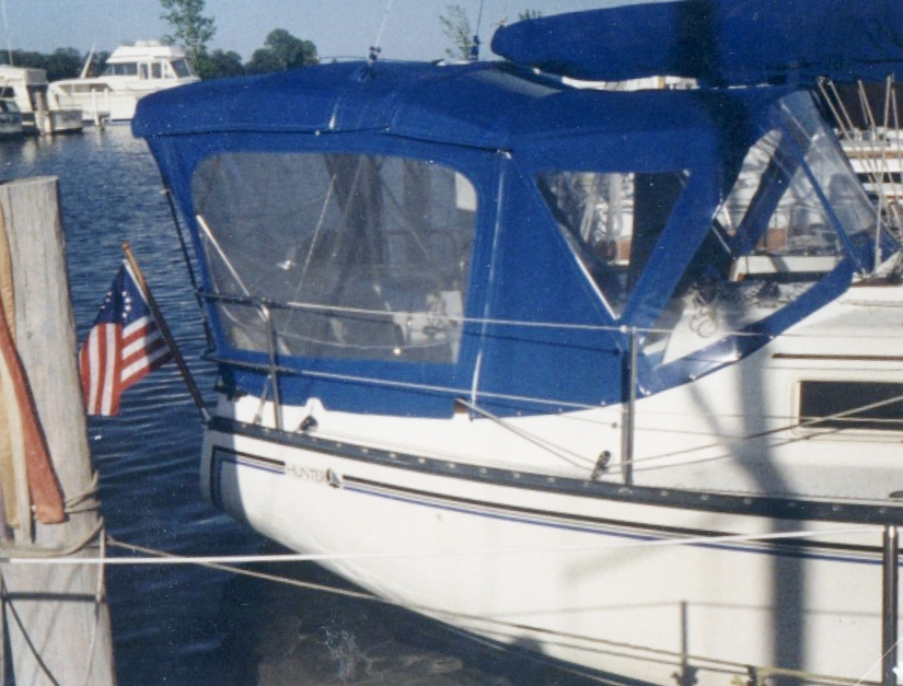 Custom Sail Boat Dodgers and Enclosures: Standard dodger with bimini and full enclosure