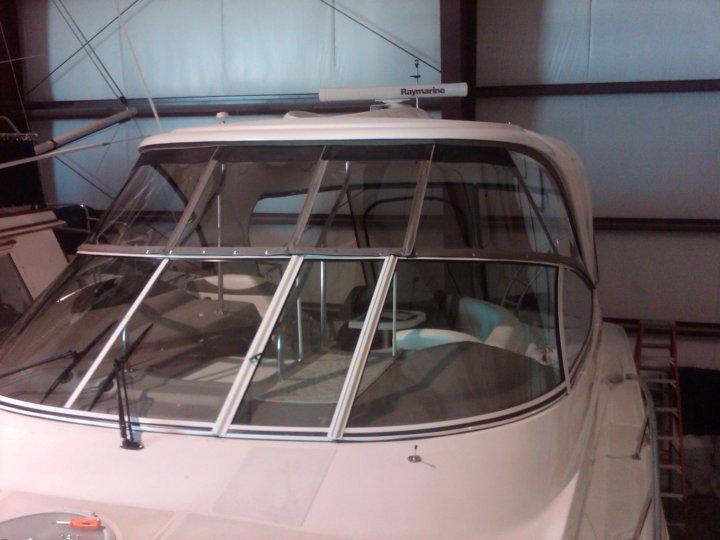 Custom Marine Sunbrella Canvas Enclosures: Cruisers Hard Top 60 Gauge  Makrolon Hard Isinglass Enclosure With