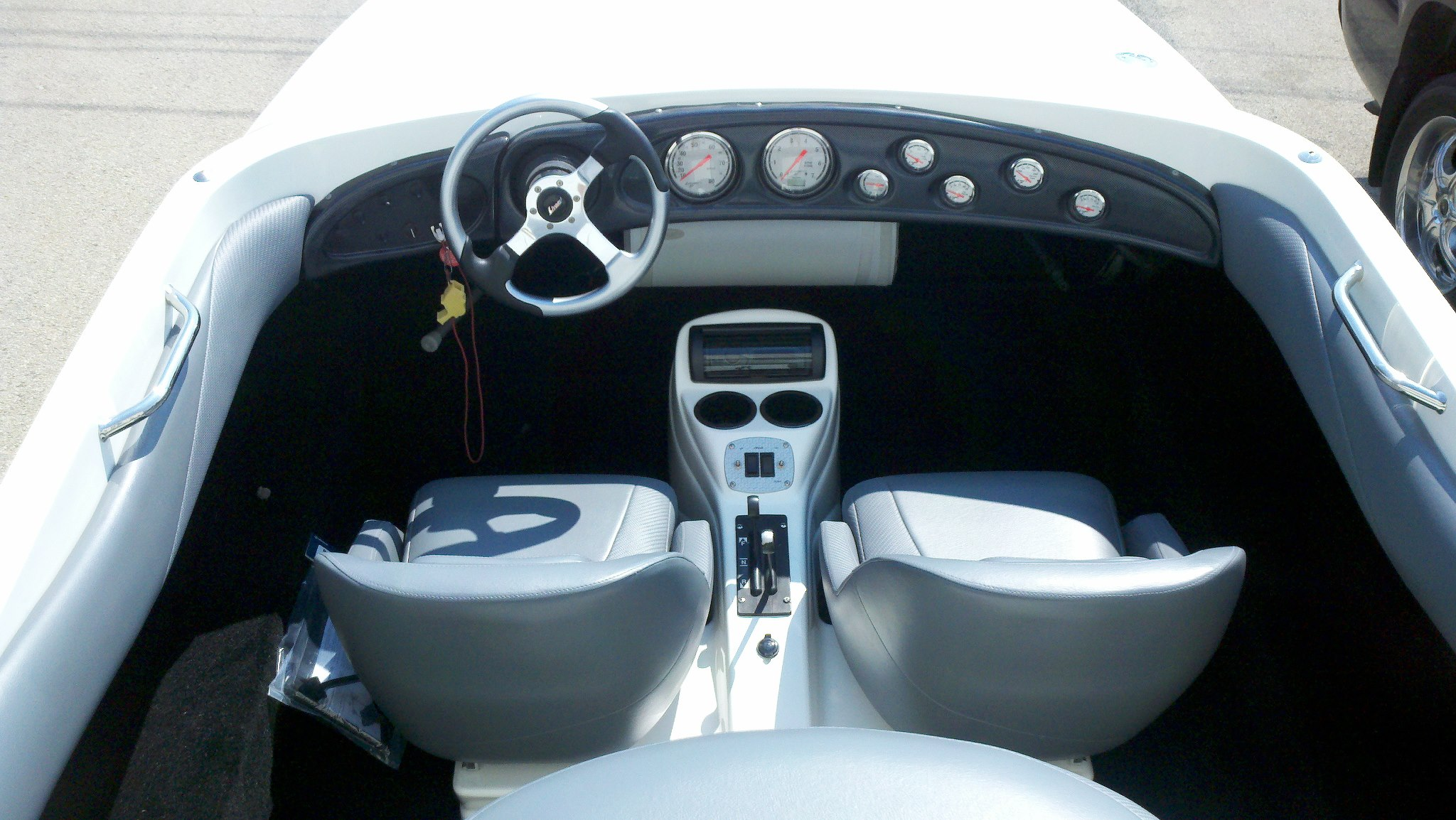 Custom Marine Interiors, Upholstery, and Carpeting: Rear View of completed Wellcraft Scarab project